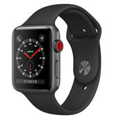 【免運費】Apple Watch Series 3 GPS 42mm 太空灰色鋁金屬錶殼搭配黑色運動型錶帶