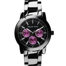 Relax Time 炫彩中性日曆腕錶-紫x黑/38mm R0800-16-03