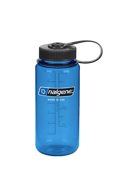 美國NALGENE 500ml 寬嘴水壺 大口徑 灰藍 不含雙酚A 運動水壺 直飲水壺 OUTDOOR NICE