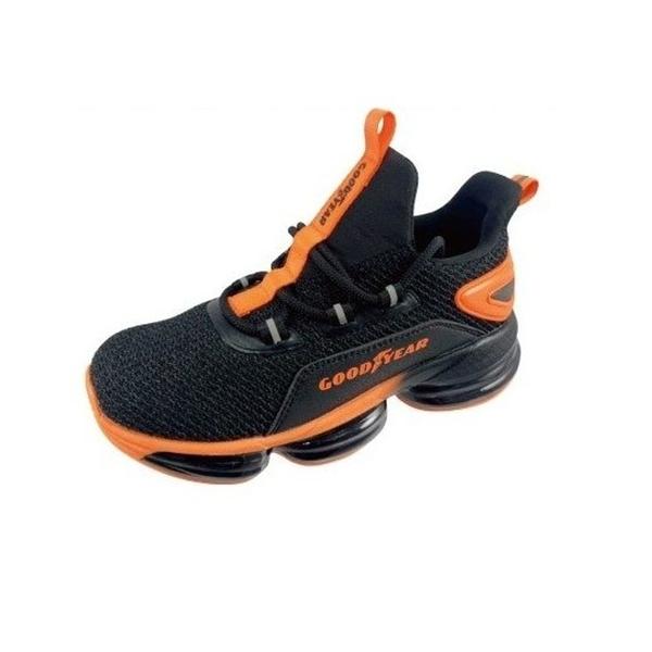 【樂樂童鞋】GOODYEAR大氣墊緩震運動鞋-黑橘 G002-1 - 現貨 男童鞋 運動鞋 大童鞋 跑步鞋 布鞋 休閒鞋