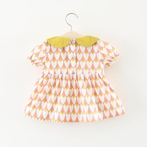 全館83折 童裝女童夏裝裙子2018新款兒童短袖連身裙0一1-3歲嬰兒寶寶公主裙