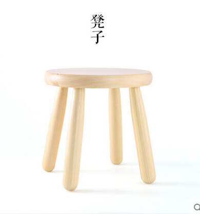 實木質凳子兒童凳子實用家居防滑坐凳客廳圓凳矮凳時尚小板凳