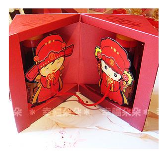 婚禮小物-嫁娶金蘭醬油禮盒-送客禮/姊妹禮/伴娘禮/活動禮 幸福朵朵