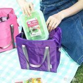 野餐袋  保溫袋飯盒袋牛津布袋鋁箔加厚防水包野餐包多功能便當手提包 KB9420【野之旅】