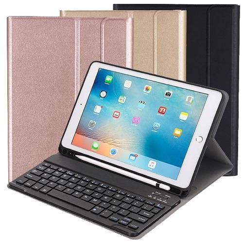 Powerway For iPad 9.7吋平板專用筆槽型分離式藍牙鍵盤/皮套/Apple Pencil筆槽座