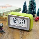 鬧鐘 語音報時鬧鐘錶靜音錶音樂鬧鈴電子盲人夜光學生時鐘簡約創意床頭 卡菲婭