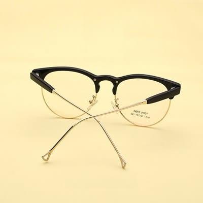 鏡框(半框)-時尚文藝輕盈舒適男女平光眼鏡5色73oe72[巴黎精品]