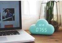 【Love Shop】送電池 雲朵鬧鐘 多用智能貪睡鬧鐘 創意裝飾家居掛鐘 超靜音led顯示 節能/常亮