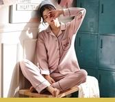 韓版睡衣女士秋季純棉長袖開衫套裝胖MM大碼寬鬆春秋冬家居服秋款