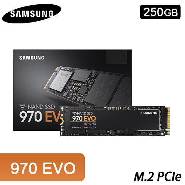 【免運費】SAMSUNG 三星 970 EVO 250GB M.2 PCIe 固態硬碟 (5年保固) / MZ-V7E250BW 250G