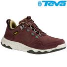 TEVA 頂級全皮超輕量科技大底低筒防水健走登山鞋ARROWOOD LUX WP - 咖啡紅