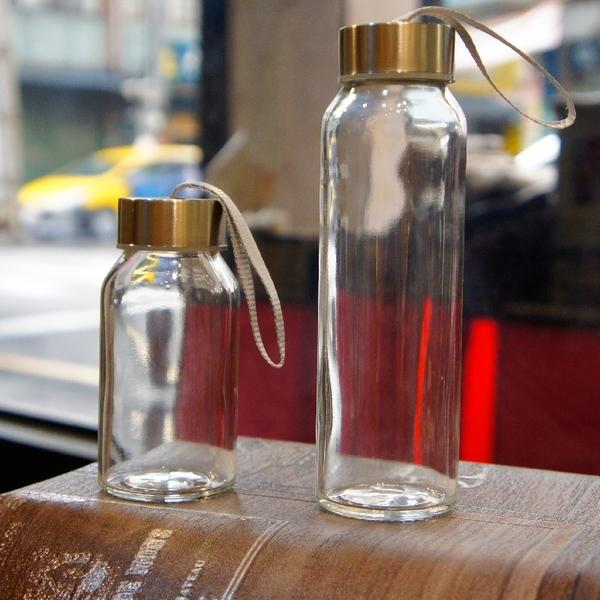 原點居家創意時尚玻璃水瓶透明耐熱玻璃水杯登山戶外郊遊水壺自行車運動隨身杯240ML