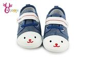 寶寶學步鞋 軟底 輕量牛仔布嬰兒布鞋 F3093#藍色◆OSOME奧森鞋業