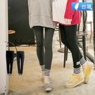 愛戀小媽咪 MIT 孕婦褲 厚棉毛料拼接條紋造型內搭褲