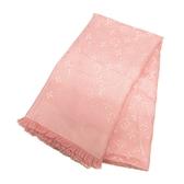 LOUIS VUITTON LV 路易威登  粉紅色羊毛混絲質方形大圍巾 披巾 140x140 scarf M75083