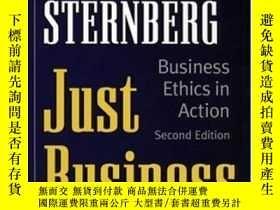 二手書博民逛書店Just罕見Business: Business Ethics