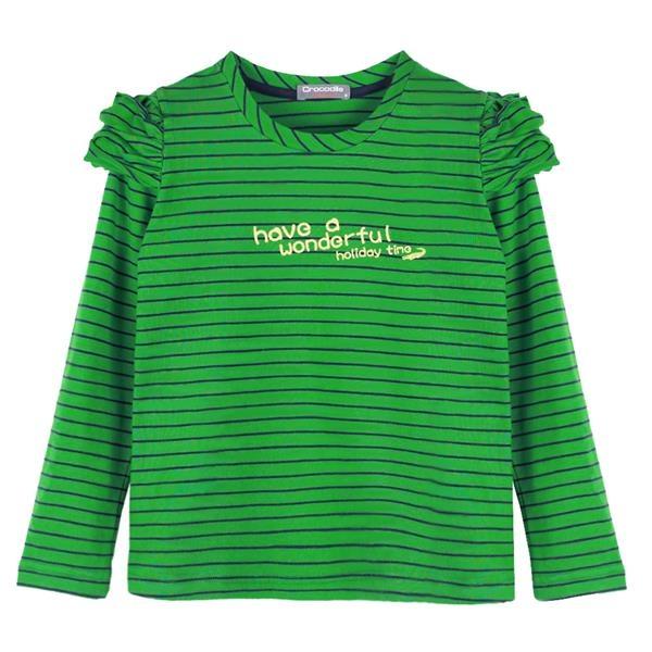 『小鱷魚童裝』泡泡袖條紋T恤(08號~16號)552150