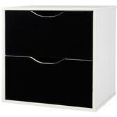 出貨收納格櫃收納櫃置物櫃【1432 】CUBE 魔術方塊雙抽收納櫃多 MIT  製黑