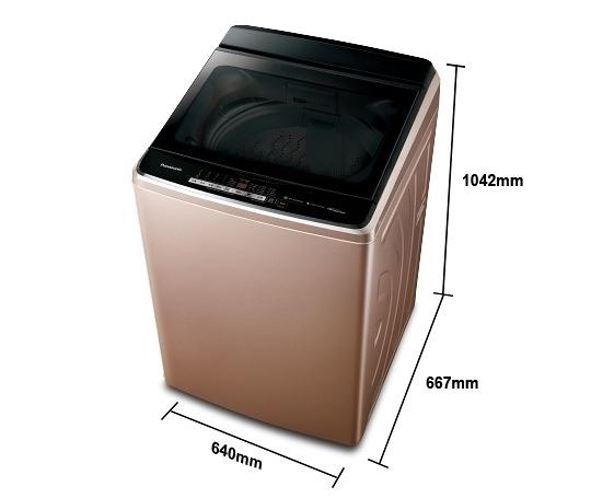 《Panasonic 國際牌》nanoe 16公斤 直立式變頻 溫水 雙效槽洗淨洗衣機 NA-V160GB-PN(玫瑰金)