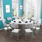 摺疊圓桌家用簡易大圓桌不含椅子