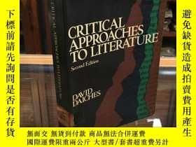 二手書博民逛書店Critical罕見Approaches to Literature by David Daiches 文學批評方