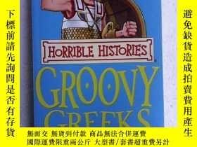 二手書博民逛書店Horrible罕見Histories: Groovy Greeks 英文原版 書內 穿插大漫畫小插圖Y832