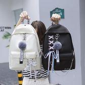 雙肩包女新款書包女韓版原宿高中學生初中生背包校園     糖糖日系森女屋