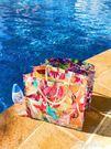 購物袋ANDCICI折疊包大容量環保油畫手提袋側背女防水便攜沙灘包 【爆款特賣】