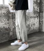 韓版潮牌男牛仔褲寬鬆港風9分直筒褲薄款男褲潮流夏季百搭九分褲 提拉米蘇