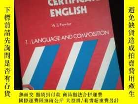 二手書博民逛書店First罕見Certificate English Book1 Language and Composition