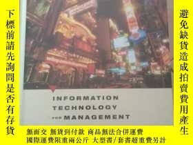 二手書博民逛書店Information罕見Technology for Mana