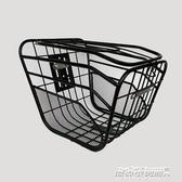 電動自行車車籃子前車筐電瓶車車筐加粗帶蓋車簍菜籃子電動車車籃 傑克傑克館