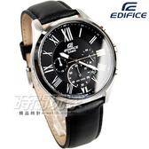 EDIFICE EFV-500L-1A 經典爵士三針三眼設計賽車腕錶 黑 EFV-500L-1AVUDF CASIO卡西歐 運動錶 石英錶