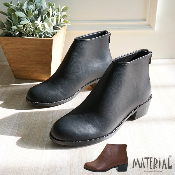 短靴 簡約後拉鍊短靴 MA女鞋 T7820