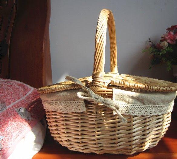柳編野餐籃