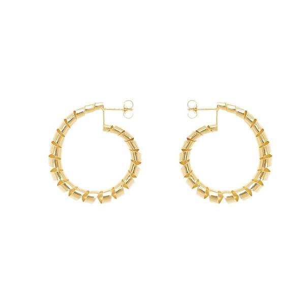 CINCO  編織大圓925純銀鍍24K金耳環 HELEN EARRINGS