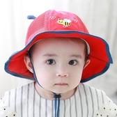 兒童帽 兒童帽子夏季薄款遮陽帽網眼兒童太陽帽女寶寶漁夫帽春夏可愛公主【快速出貨】