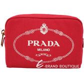 PRADA Canvas 牛仔帆布化妝包(紅色) 1920509-54