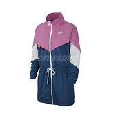 Nike 外套 NSW Icon Clash Woven Jacket 藍 粉紅 女款 長版 風衣 運動休閒 【ACS】 CJ2047-691