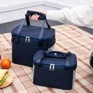 飯盒袋午餐便當包保溫袋包帆布手拎媽咪包帶飯的手提袋鋁箔加厚 印巷家居