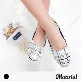 包鞋 布面格紋平底包鞋 MA女鞋 T4327