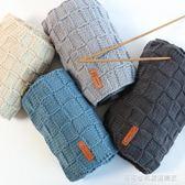 黛青 棋盤格女自織圍巾線材料包送男友手工diy編織牛奶棉粗毛線團 Cocoa