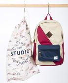 Hsin 65折 現貨 Herschel 高階 Studio Heritage 中型 米白 深藍 紅色 賽馬圖騰 重磅帆布 限量版 後背包