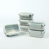 Quasi 司扣爾不鏽鋼保鮮盒含蓋12件組 單個容量:500 毫升