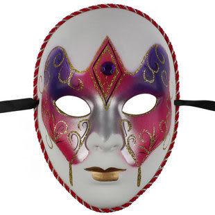 威尼斯面具 歐式臉譜 紙漿彩繪加鑽面具