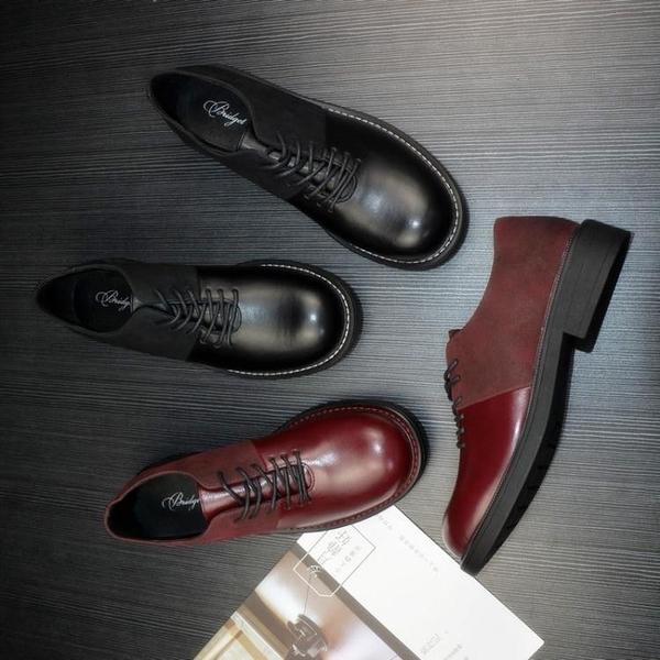 俄羅斯單 英倫風~!外貿大碼繫帶牛津鞋 平底圓頭秋季女生皮鞋