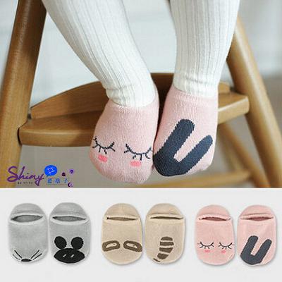 【WZ003】shiny藍格子-嬰幼館.男女兒童寶寶嬰兒卡通防滑地板襪子