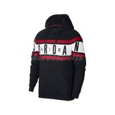 Nike 長袖T恤 Jordan Air Fleece Hoodie 黑 白 男款 帽T 運動休閒 喬丹 【ACS】 BQ5655-010