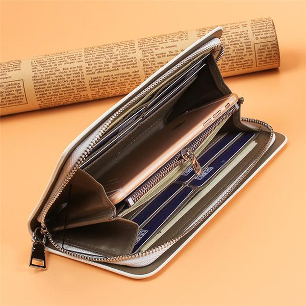 長夾 錢包男女通用長款拉錬個性男士大容量手拿包正韓可放手機錢包