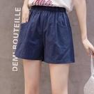 短褲女夏寬鬆韓版跑步運動高腰休閒褲大碼純棉外穿學生熱褲五分褲 黛尼時尚精品